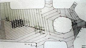 Kjaergaards ritningar med triangelmönstrets konstruktion