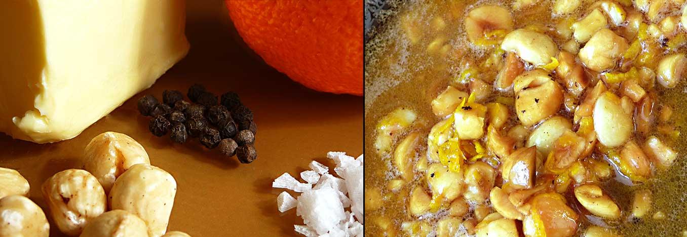 Apelsin- och hasselnötssås - preparation