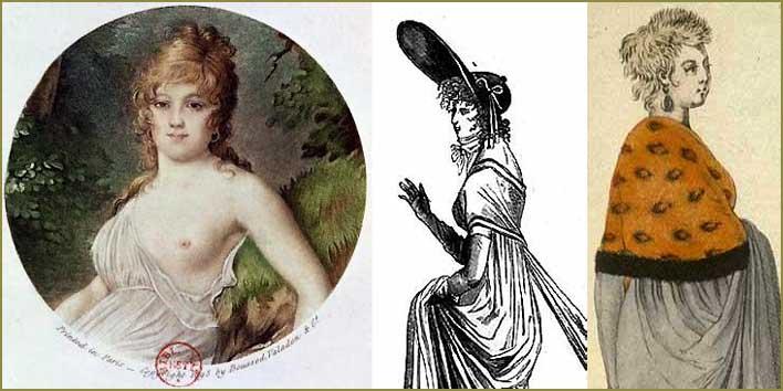 Madame Tallien och två les Merveilleuses